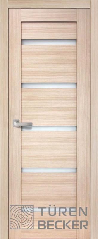 Дверь межкомнатная Ирма 801 беленый дуб стекло