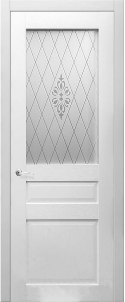 Межкомнатная дверь Кэтрин Белый рифленый 11.00